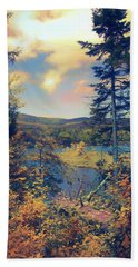 Hand Towel featuring the photograph North South Lake by John Rivera