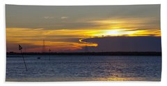 North Wildwood Sunset Hand Towel