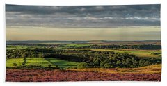 North Yorkshire Heather Bath Towel by David  Hollingworth