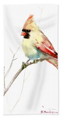 Northern Cardinal,female Hand Towel