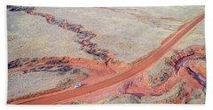 northern Colorado foothills aerial view Bath Towel