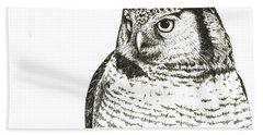 Northern Hawk-owl Hand Towel
