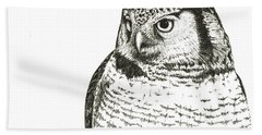 Northern Hawk-owl Bath Towel