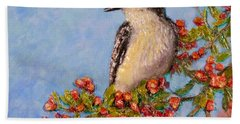 Hand Towel featuring the painting Northern King Bird  by Joe Bergholm