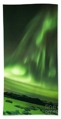 Bath Towel featuring the photograph Northern Lights 5 by Mariusz Czajkowski