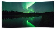 Northern Lights Alaska Bath Towel