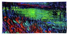Northern Lights Embracing Poppies Hand Towel