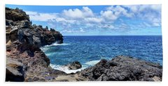 Northern Maui Rocky Coastline Hand Towel