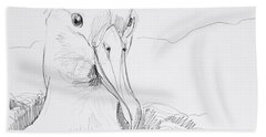 Northern Royal Albatross Bath Towel