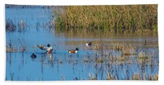 Northern Shovelers Bath Towel