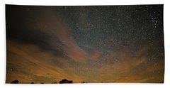 Northern Sky At Night Hand Towel