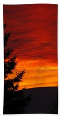 Northern Sunset 2 Hand Towel