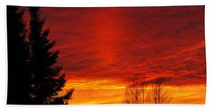 Northern Sunset Hand Towel