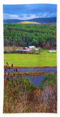 Northern Vermont Vista Bath Towel
