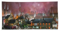 Hand Towel featuring the painting Northfield Road, Netherton by Ken Wood