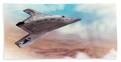 Northrop Grumman X47b Drone Bath Towel by John Wills