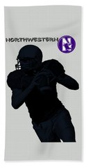 Northwestern Football Hand Towel by David Dehner