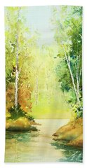Northwoods Scene Hand Towel