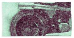 Norton Manx 3 - Norton Motorcycles - 1947 - Vintage Motorcycle Poster - Automotive Art Bath Towel
