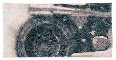 Norton Manx - Norton Motorcycles - 1947 - Vintage Motorcycle Poster - Automotive Art Bath Towel