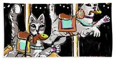 Norumbega Cats Hand Towel