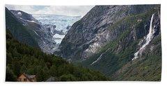 Norway Glacier Jostedalsbreen Hand Towel