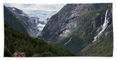 Norway Glacier Jostedalsbreen Bath Towel