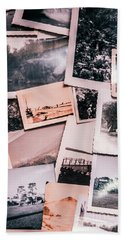 Nostalgic Photo Print Background Of A Collection Of Old Faded Sc Hand Towel