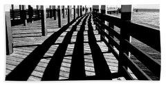 Nostalgic Walk On The Pier Hand Towel