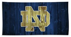 Notre Dame Barn Door Bath Towel by Dan Sproul