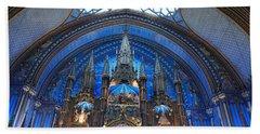 Notre Dame Basilica Hand Towel by John Schneider
