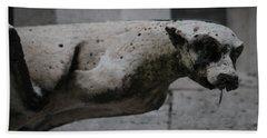 Notre Dame Bat Gargoyle Hand Towel by Christopher Kirby