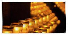 Notre Dame Candles Bath Towel