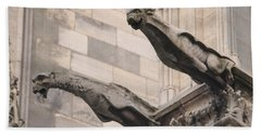 Notre Dame Cathedral Gargoyles Bath Towel by Christopher Kirby