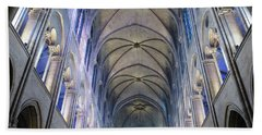 Notre Dame De Paris - A View From The Floor Bath Towel