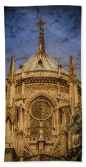 Paris, France - Notre-dame De Paris - Apse Hand Towel