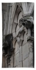 Notre Dame Grotesques Bath Towel by Christopher Kirby