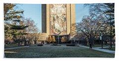 Notre Dame Touchdown Jesus  Bath Towel