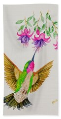 Bath Towel featuring the painting Nourishment  by Katherine Young-Beck