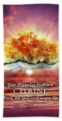 November Birthstone Citrine Bath Towel by Evie Cook