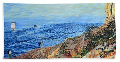 November Day At Point Lobos San Francisco Bath Towel