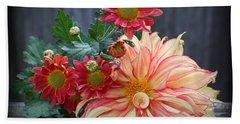 November  Flowers - Still Life Bath Towel by Dora Sofia Caputo Photographic Art and Design