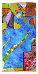 Hand Towel featuring the mixed media November State Of Mind by Polly Castor