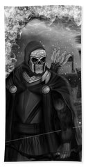 Now Or Never - Black And White Fantasy Art Bath Towel