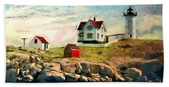 Nubble Light - Painted Hand Towel