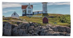 Nubble Lighthouse Hand Towel