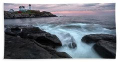 Nubble Lighthouse Of Maine Hand Towel