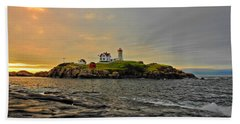 Nubble Lighthouse Hand Towel