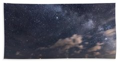 Nubble Lighthouse Under The Milky Way Hand Towel