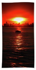 Nuclear Miami Sunset Hand Towel